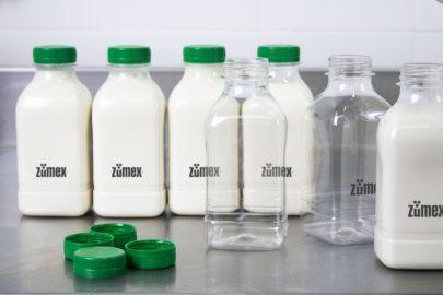 Bottles of plant milk